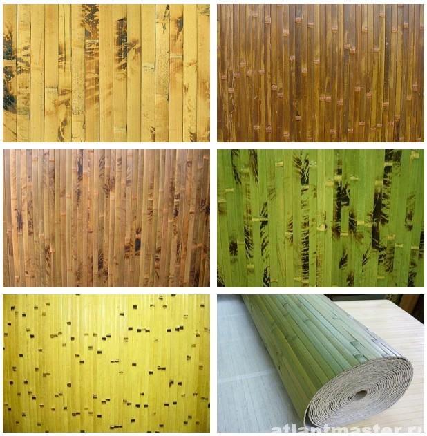 Какие бывают бамбуковые обои