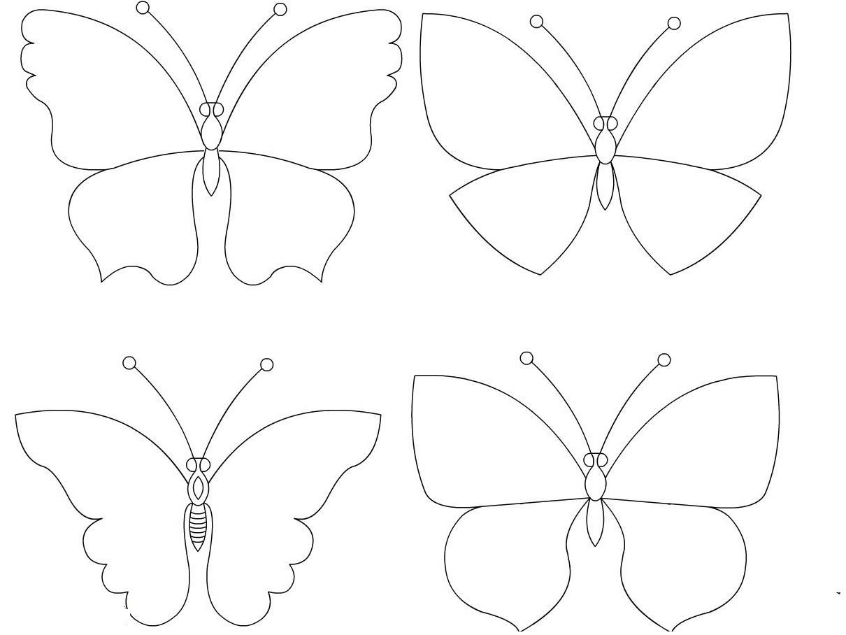 Декор стен бабочками своими руками трафарет 85