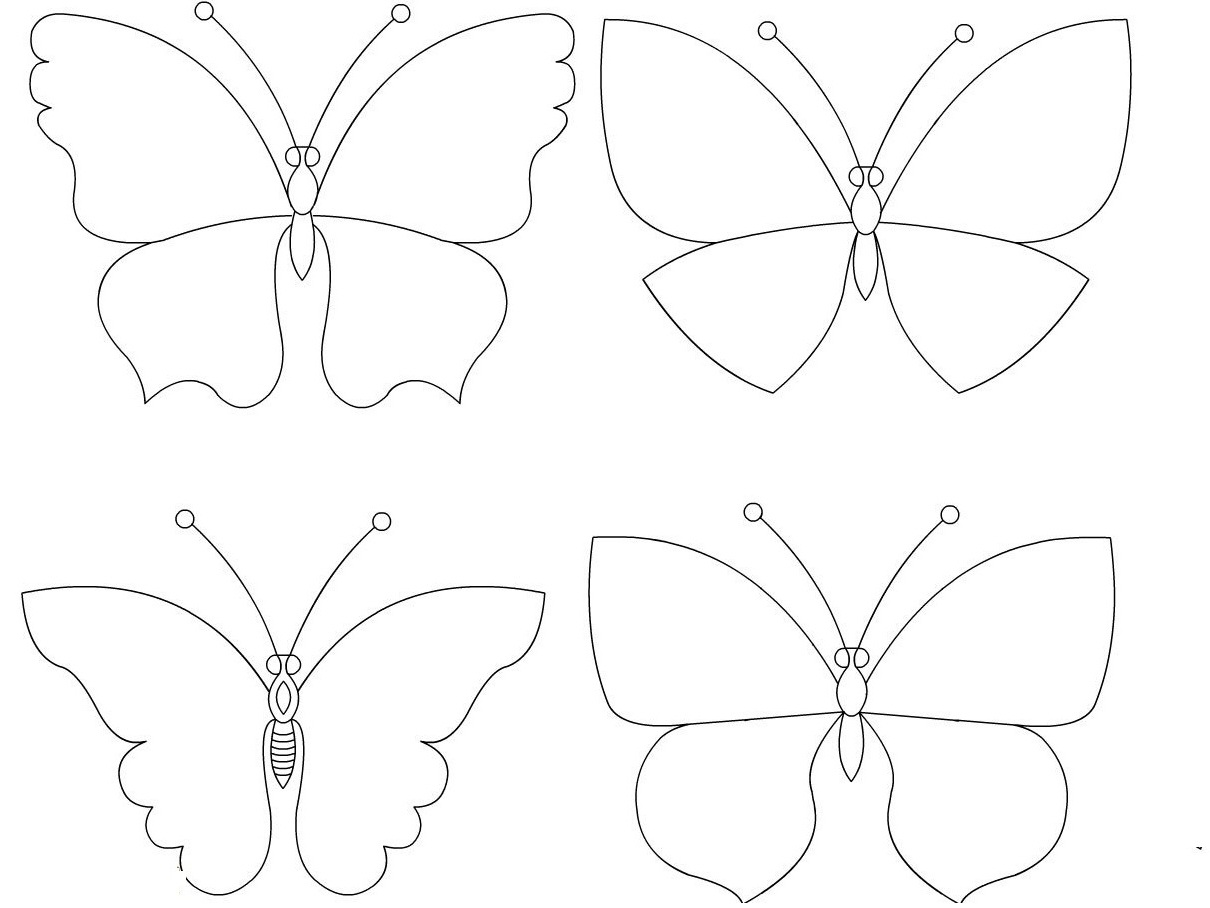 Объемная бабочка своими руками шаблоны 212
