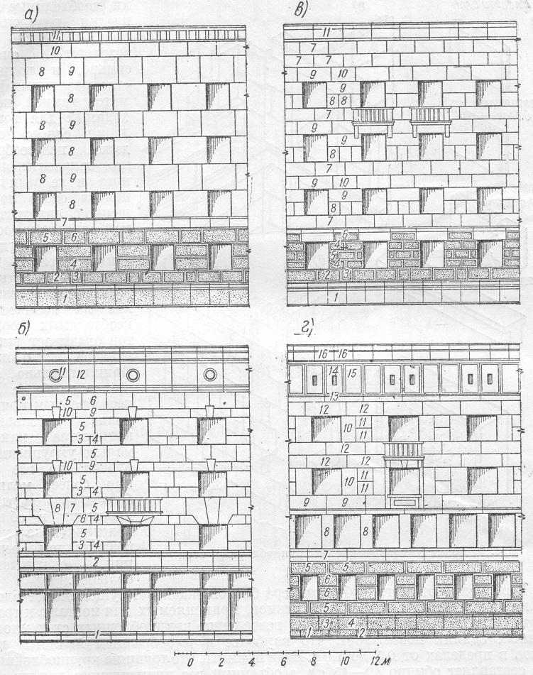 Фрагмент фасада жилого крупноблочного дома