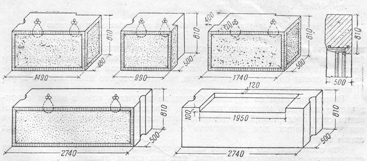 Сплошные крупные легкобетонные блоки для стен