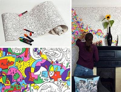роспись стен в интерьере-1