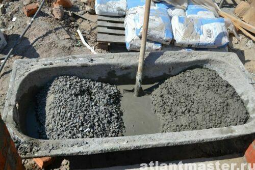Приготовление-бетона-вручную