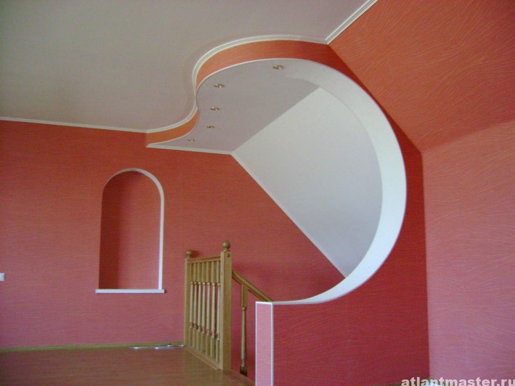 Как сделать декоративный потолок из гипсокартона видео