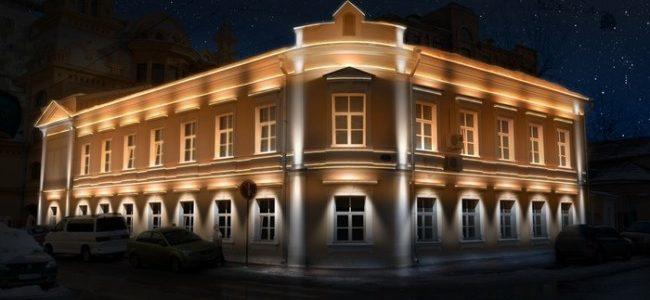 Подсветка здания снаружи